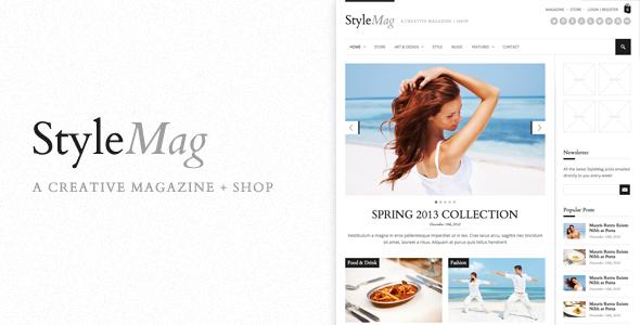 StyleMag - Responsive Magazine/Shop WP Theme