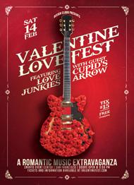 Love Fest Valentine Flyer Template