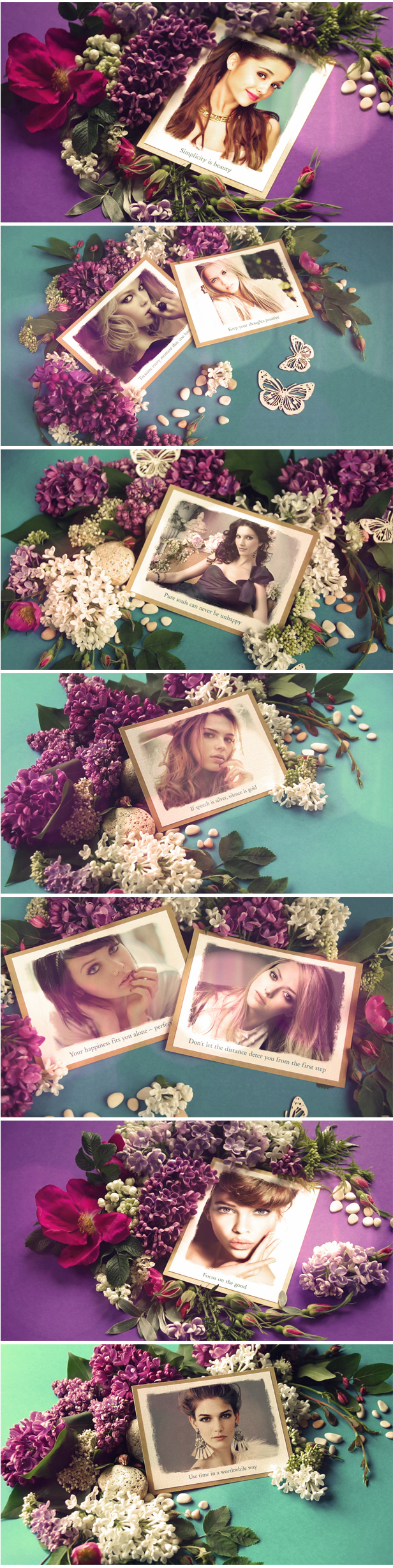 Romantic Lilac Slideshow After Effects Template for your love story, anniversary, wedding or memories