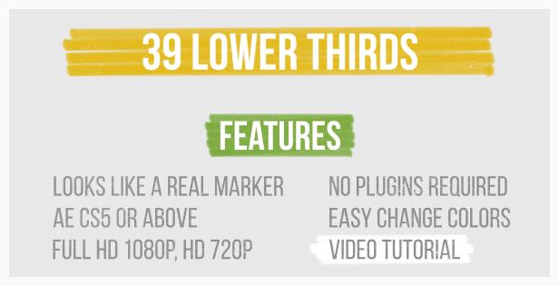 Marker Lower Thirds