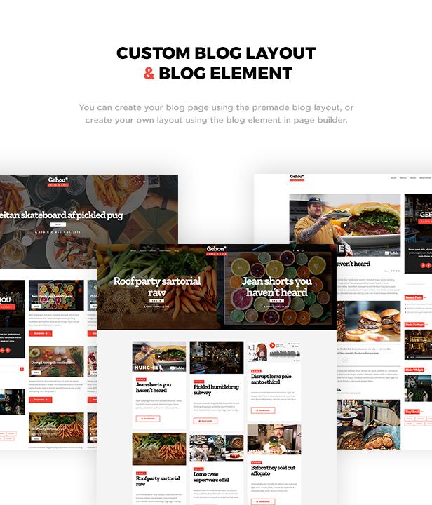 Gehou - A Modern Restaurant & Cafe Theme - 2