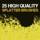 25 Splatter Photoshop Brushes