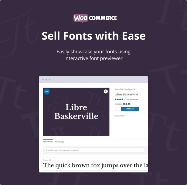 Jeg Font Preview - WooCommerce Extension WordPress Plugin by jegtheme