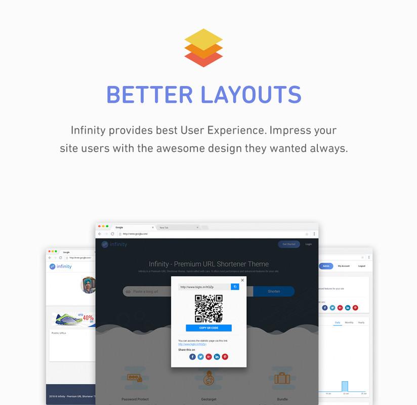 Infinity - Premium URL Shortener Theme - 4