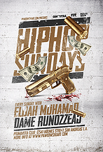 Hip Hop Sundays Party Flyer Template