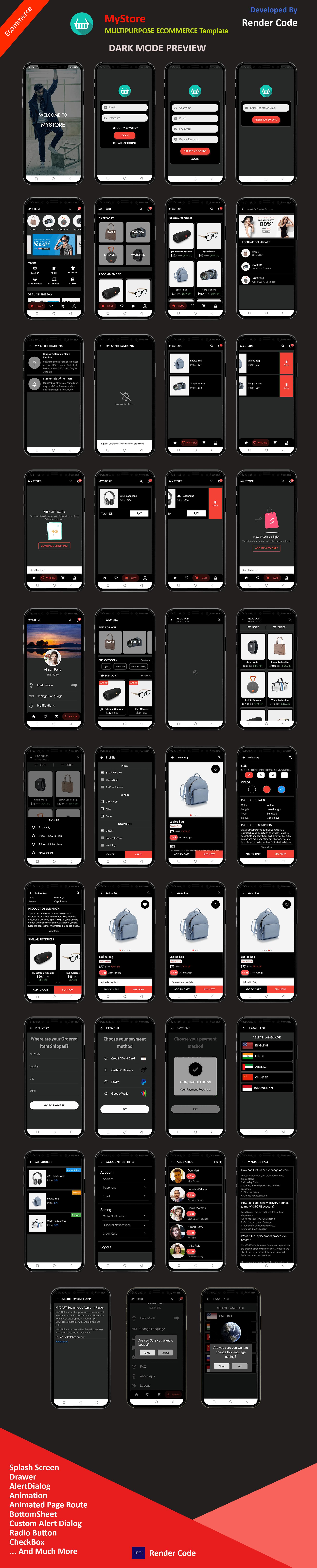 StunningKit - Biggest Flutter App Template Kit (15 App Template) - 13