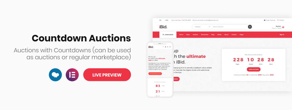 iBid - Multi Vendor Auctions WooCommerce Theme - 9