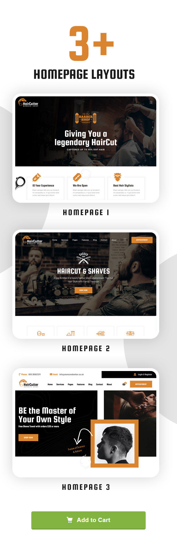 HairCutter - Barber, Beauty Shop and Salon Responsive HTML Template - 2