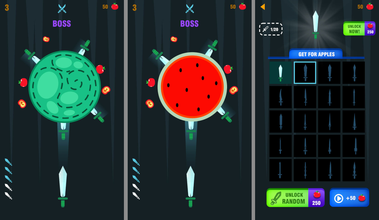 Knife Hit Unity (Android, iOS ..) - 1