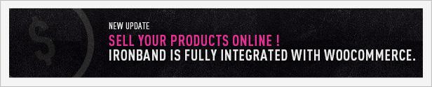 IronBand - Music and WooCommerce eCommerce Wordpress Theme
