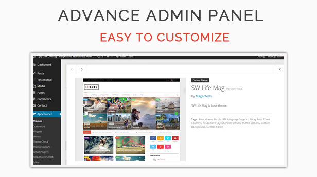 SW Lifemag - Admin Panel