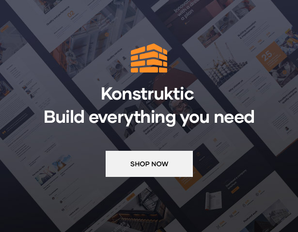 Konstruktic - Best Building, Engineering & Architecture WordPress Theme