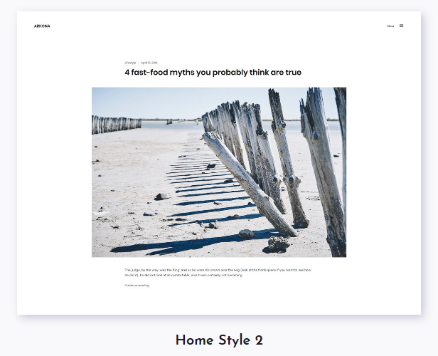 Arkona - Personal Blog & Magazine WordPress Theme - 2