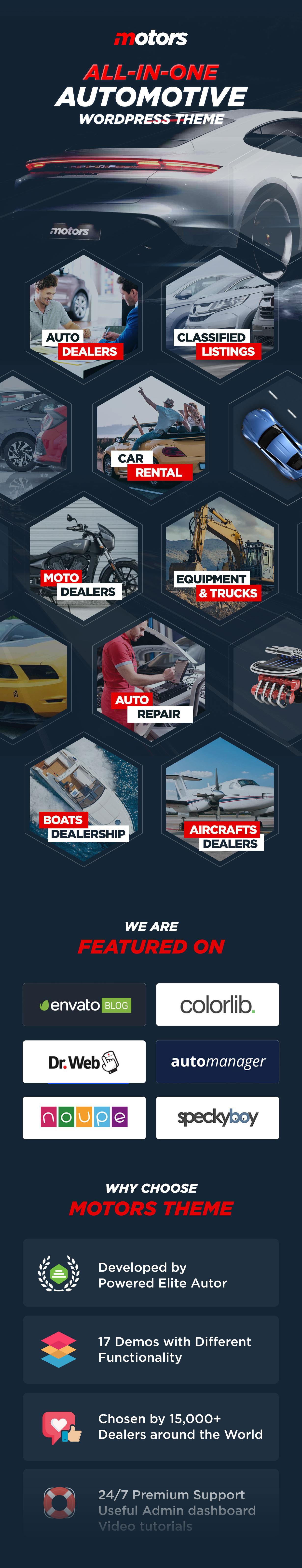 Motors - Car Dealer, Rental & Listing WordPress theme - 1