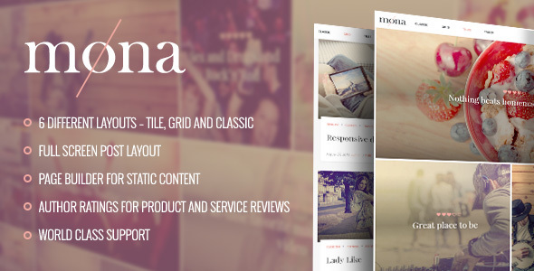 Mona - Personal Blog Theme