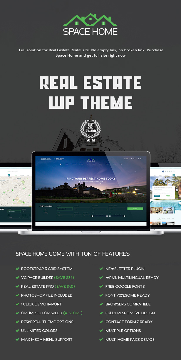 Space Home - Real Estate WordPress Theme - 2