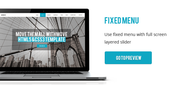 Move - Responsive One Page Parallax Template - 4