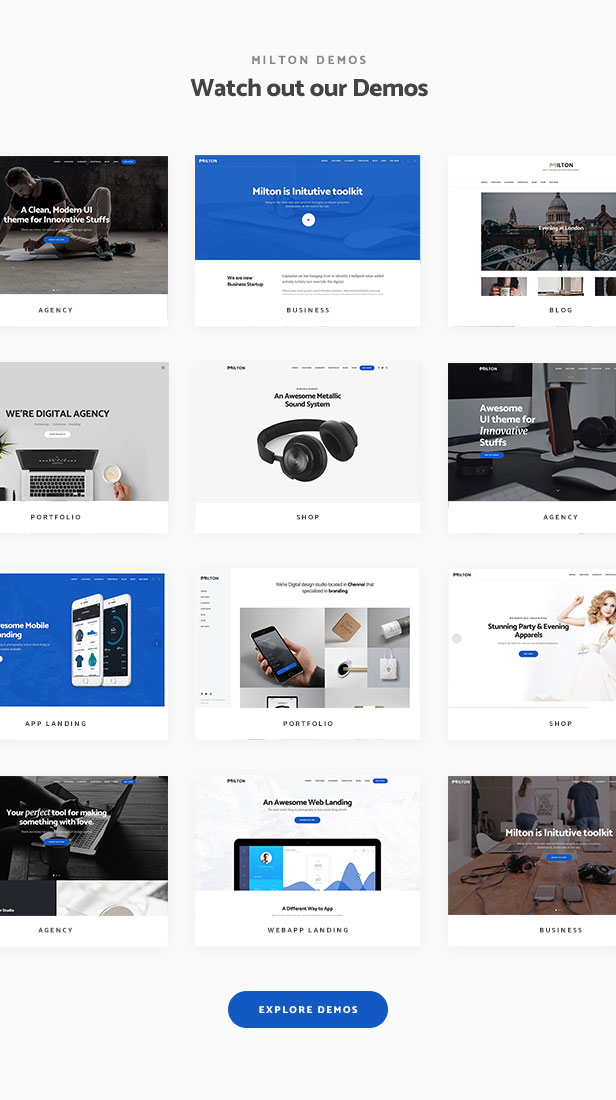 Milton | Multipurpose Creative WordPress Theme - 2