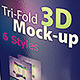 Tri-fold 3D Mock-up Pack