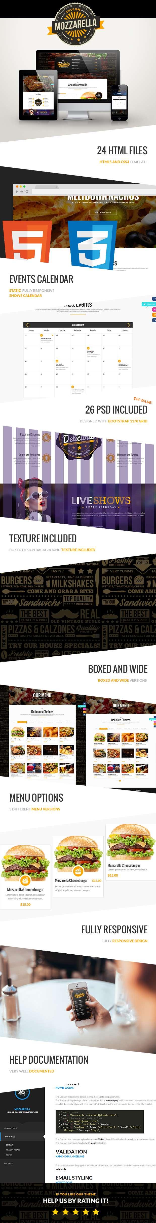 Mozzarella - HTML5 and CSS3 Cafe Bar Template - 10