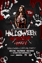 Halloween Massacre Party Flyer Template
