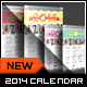 Stamp Greeting Card with Calendar 2014 - 9