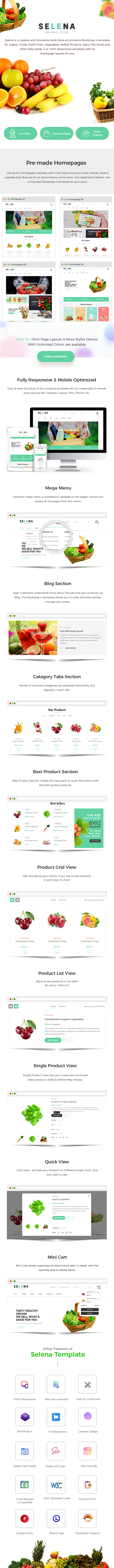 Organic eCommerce Bootstrap 4 Template