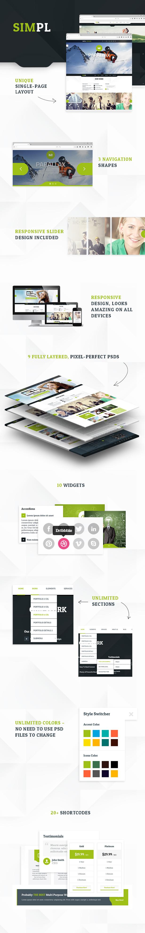SIMPL - Clean Modern Portfolio & Business Site Tem - 8