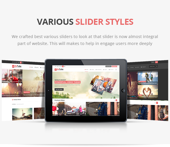 betube video WordPress Theme sliders