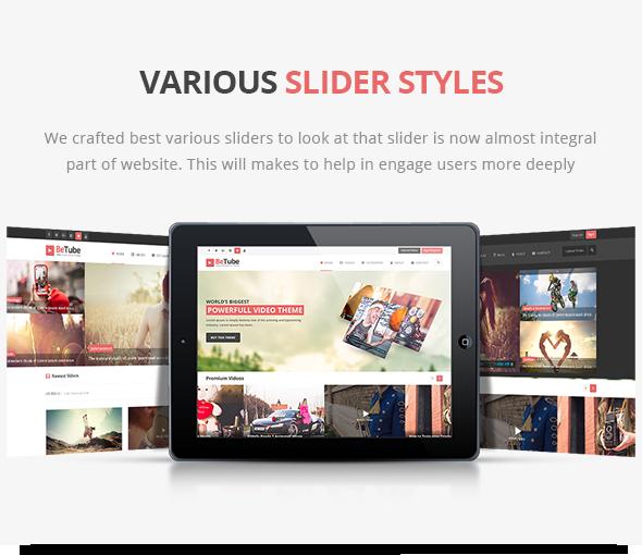 sliders de vídeo do WordPress