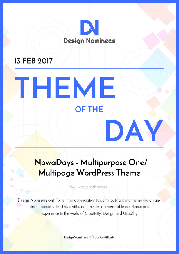 NowaDays - Multipurpose One/Multipage WordPress Theme - 5