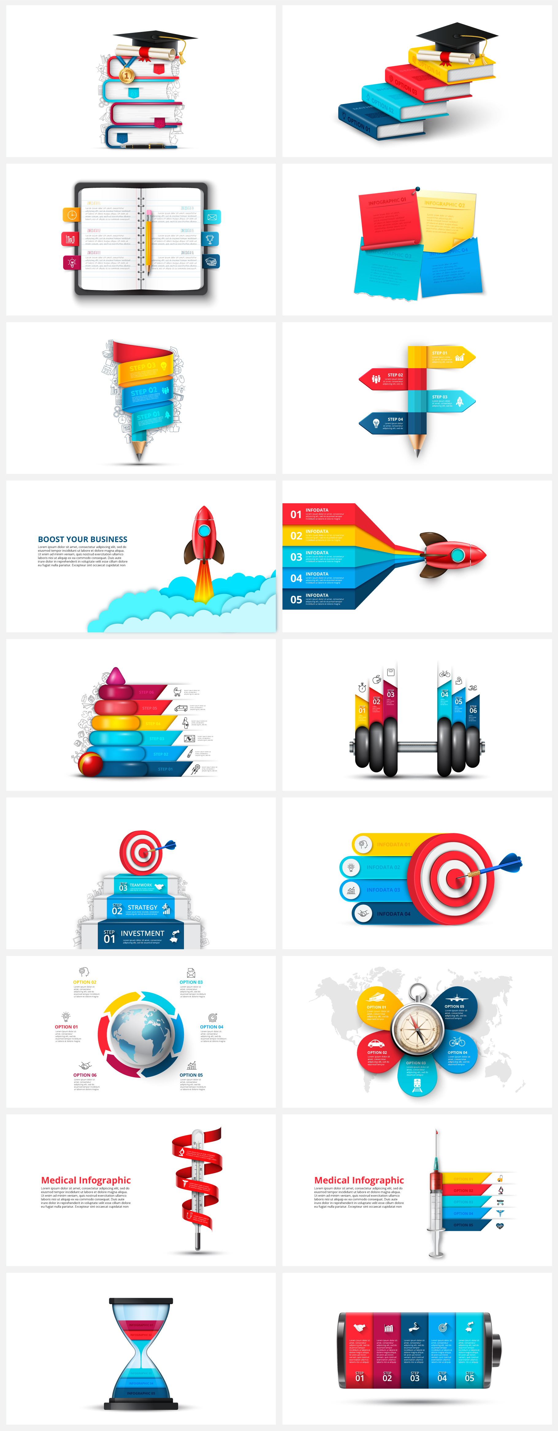 Multipurpose Infographics PowerPoint Templates v.5.0 - 125