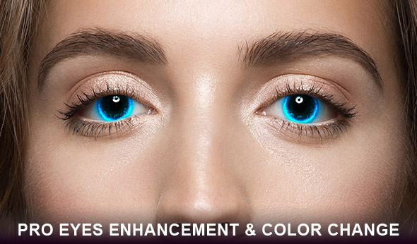 Pro eyes enhancement and color change Photoshop action