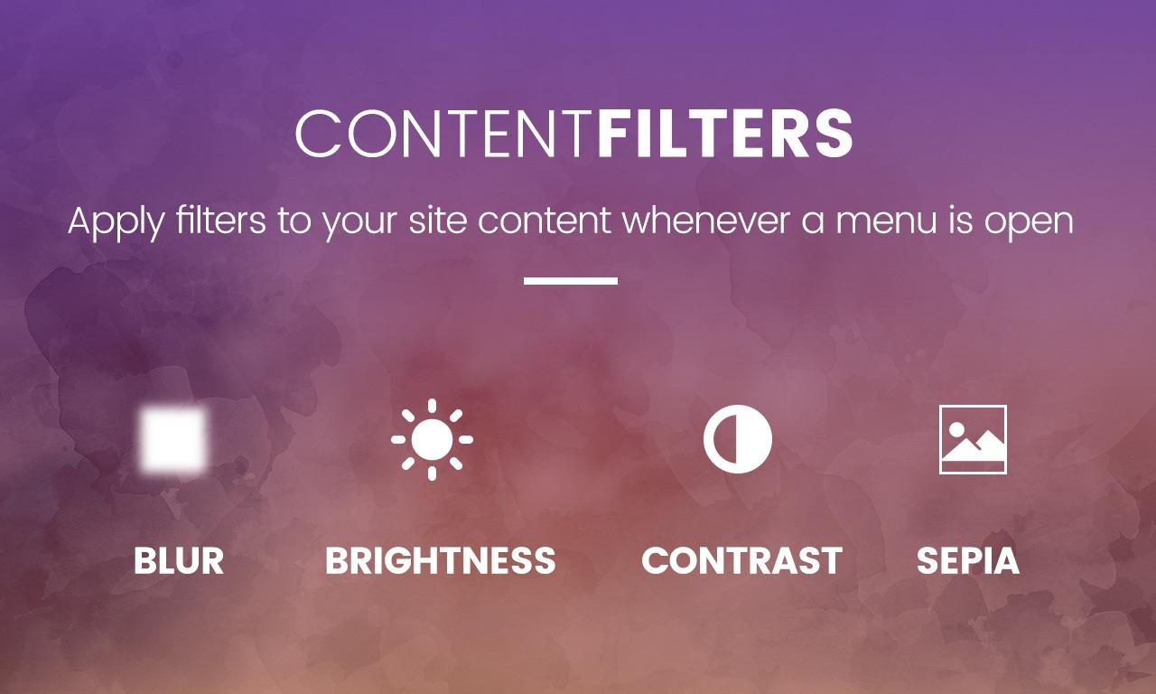 Slick Menu - Content Filters