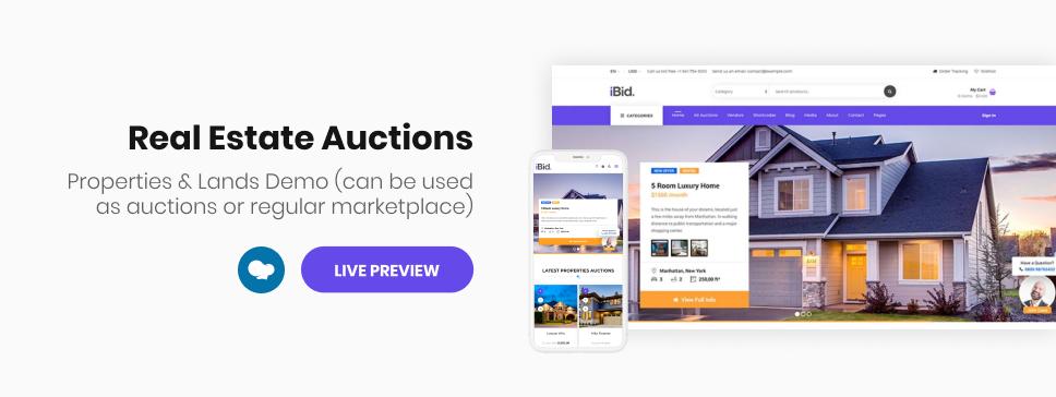 iBid - Multi Vendor Auctions WooCommerce Theme - 5