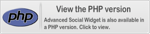 Advanced Social Widget is also available in a PHP edition