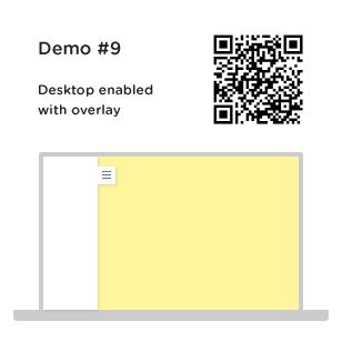 default panel enabled on desktop