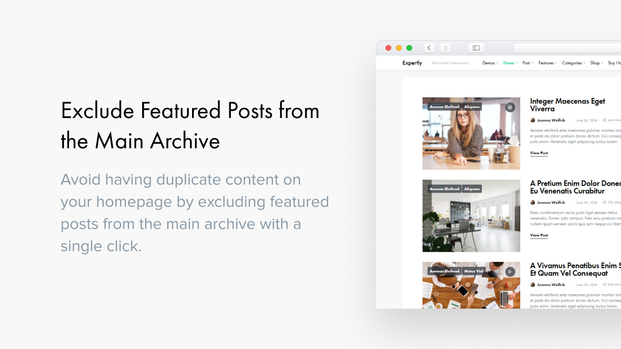 Expertly - WordPress Blog & Magazine Theme for Professionals - 35