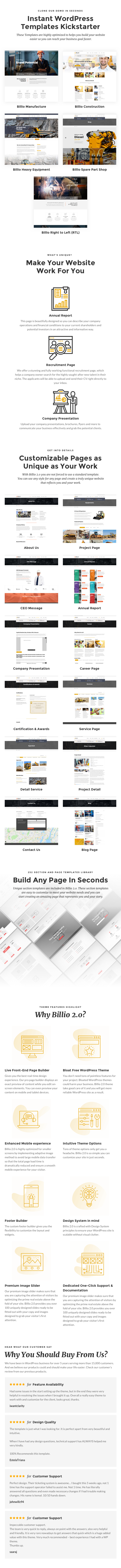 Billio 2.0 - Engineering & Industrial WordPress Theme - 1