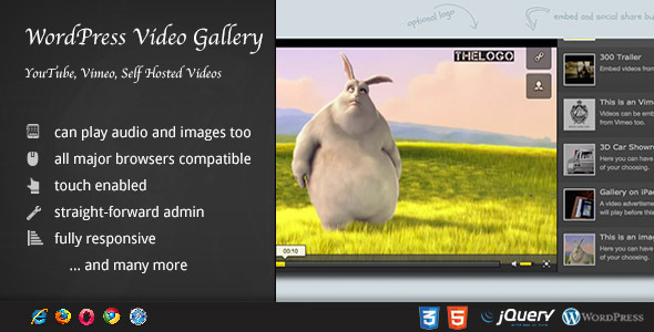 WordPress Plugin Video Gallery