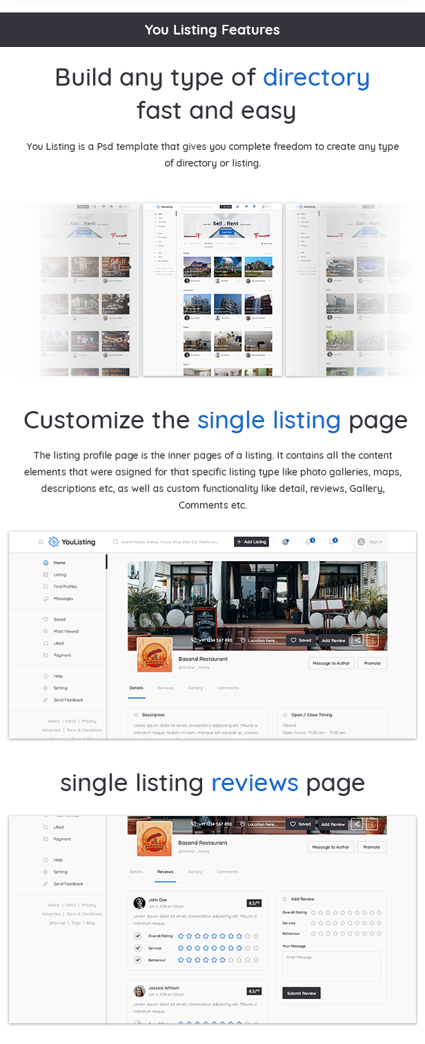 YouListing - Classified Listing and Directory Social Networking PSD Template - 3