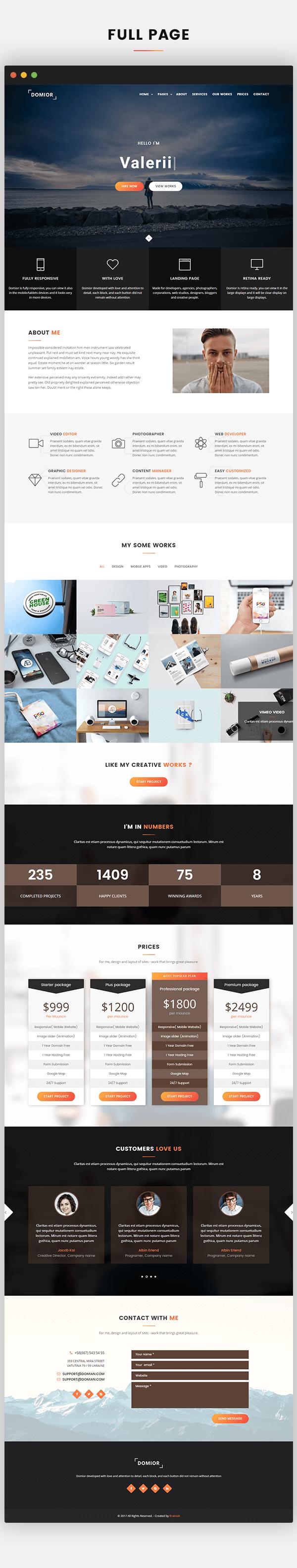 Domior - Creative Personal Portfolio WordPress Shop Theme - 7