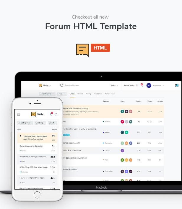 Forum Website PSD Template - 12