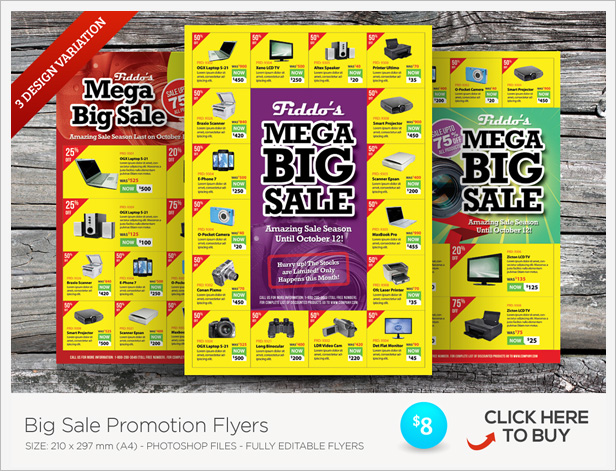 big sale promotion flyers vol 02 by kinzi21 graphicriver