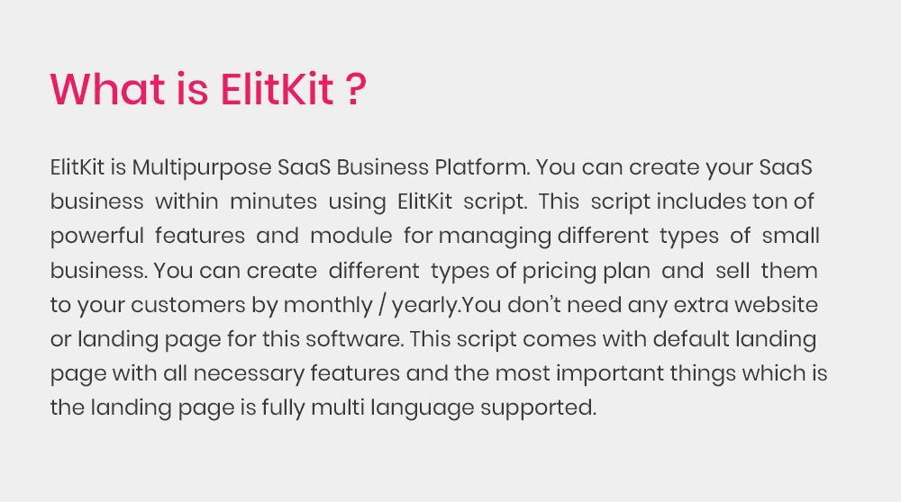 ElitKit - All In One SaaS Business Suit - 1