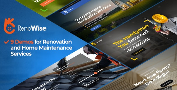 RenoWise - Renovation, Construction & Handyman - Business Corporate