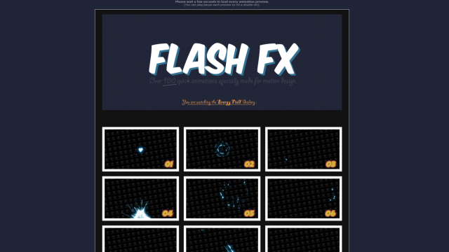 Flash Fx - Animation Pack - 8