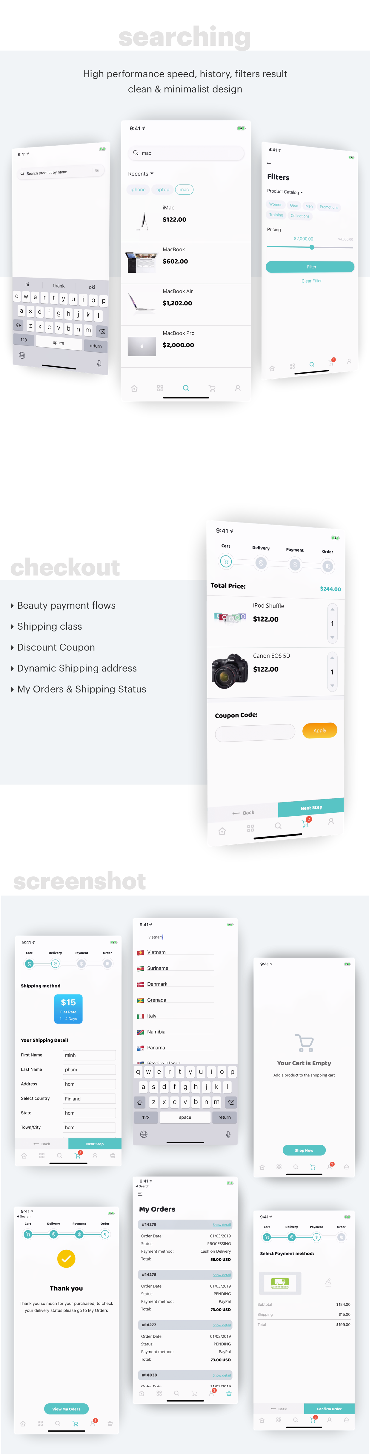 MStore Opencart - the complete react native e-commerce app