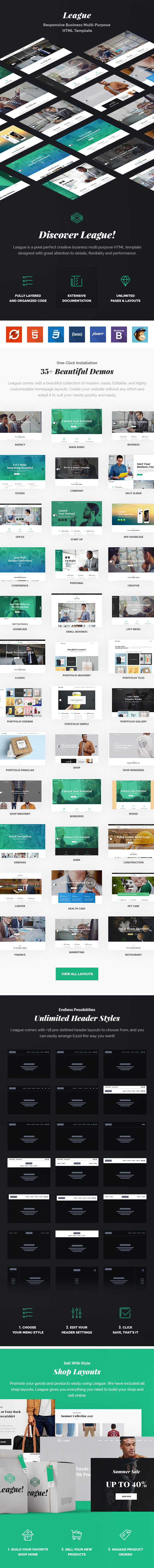League – Multi-purpose Business HTML Template - 3