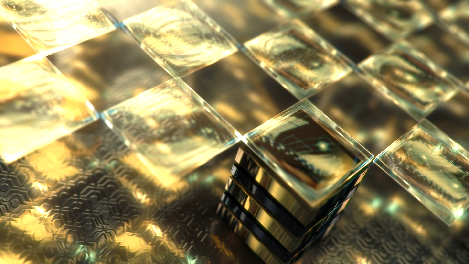 Gold & Black Crystallized Glass Logo Reveal - 2